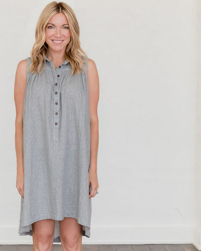Grey Dot Birdie Dress