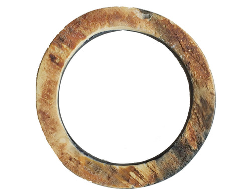 Round Wood and Horn Bangle