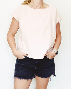 Kelly Linen Blush Top