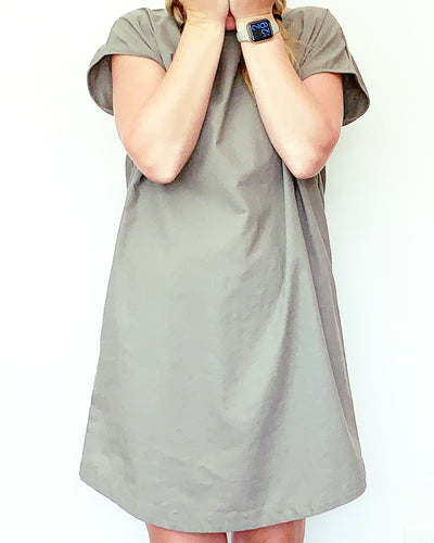 Kelly Linen Olive Dress