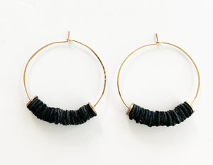 Leather Bits Earring