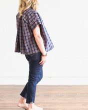 Load image into Gallery viewer, Holiday Navy Plaid Mae Top