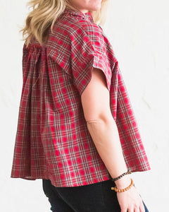 Holiday Red Plaid Mae Top