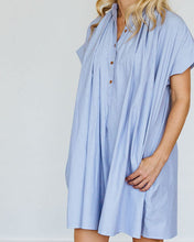 Load image into Gallery viewer, Blue Stripe Mae Dress