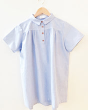 Load image into Gallery viewer, MINI MERE Birdie Blue Oxford Dress