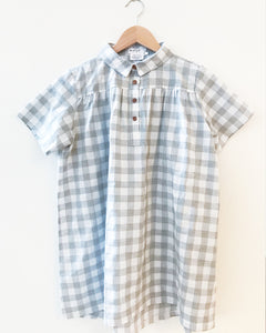 MINI MERE Birdie Grey Check Dress