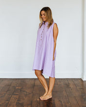 Load image into Gallery viewer, Purple Oxford Birdie Dress