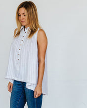 Load image into Gallery viewer, White Pinstripe Birdie Tank