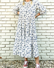 Load image into Gallery viewer, Zoe Indigo Blooms Maxi Dress