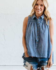 Chambray Birdie Tank