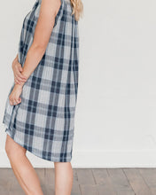 Load image into Gallery viewer, Dark Blue Plaid Birdie Dress