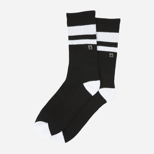 Retro Stripe Crew Socks