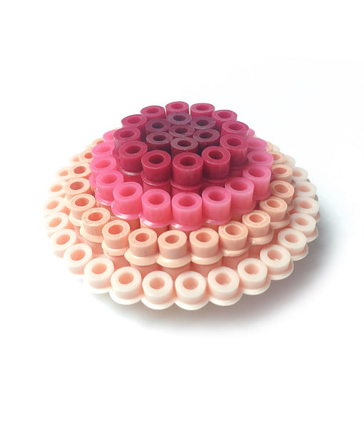 Rose Circles Statement Brooch - in shades of rose, pink and plum.