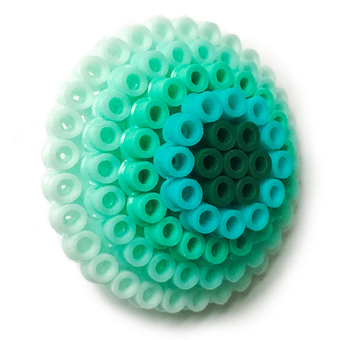 Mint Circles Statement Brooch - in shades of mint and teal.