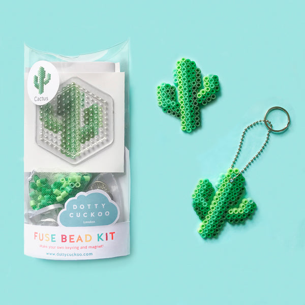 Cactus Fuse Bead Kit - keyring and magnet