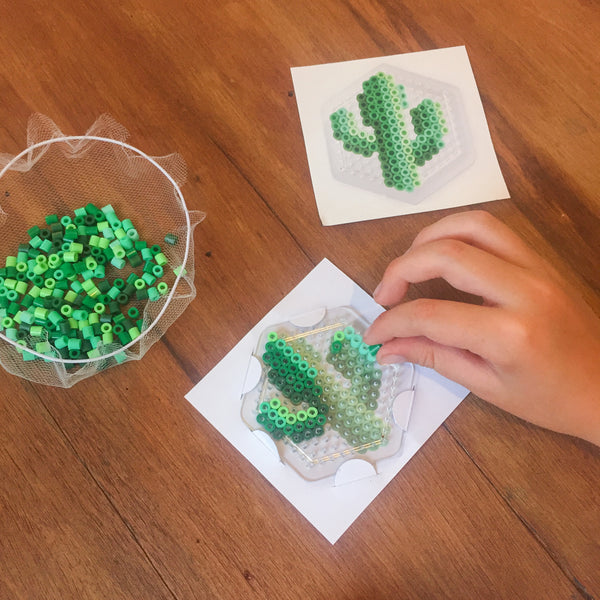 Cactus Fuse Bead Kit - necklace and pin