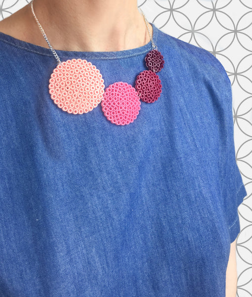 Rose Circle Fuse Bead Kit - Necklace and Brooch