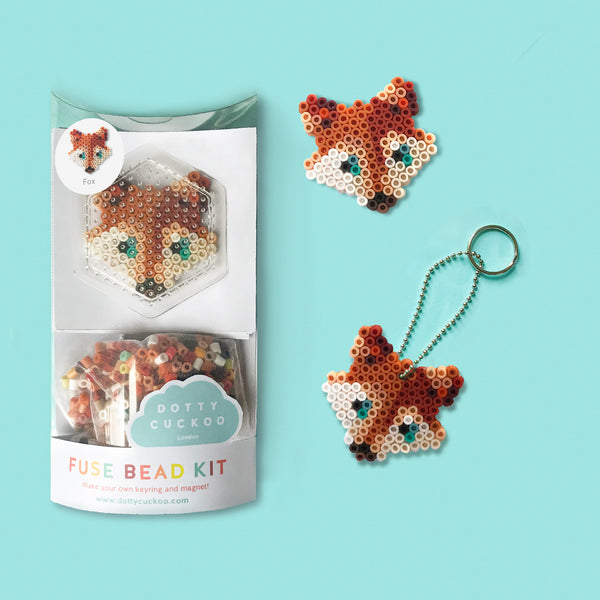 Fox Fuse Bead Kit - keyring and magnet