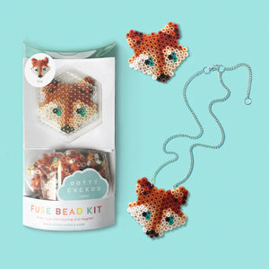 Fox Fuse Bead Kit - necklace and pin