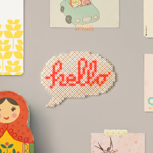 Hello Speech Bubble Wall Decor