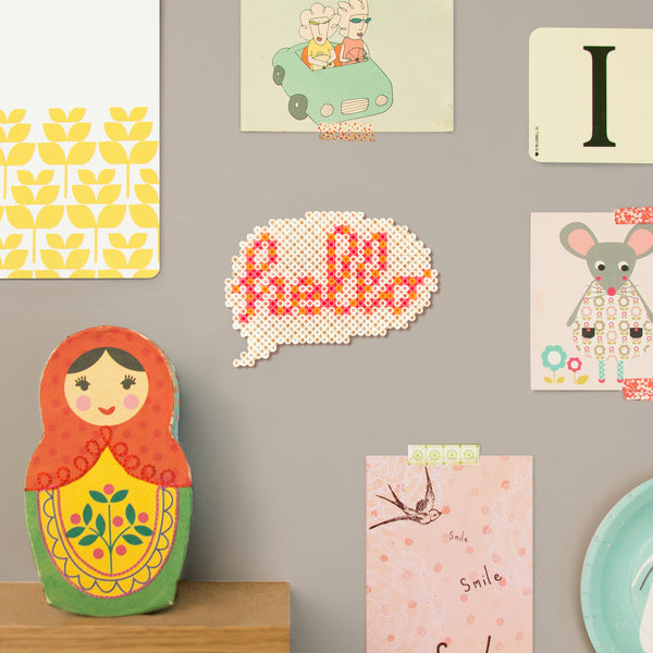 'Hello' Speech Bubble Wall Decor - Fuse Bead Kit