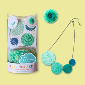 Mint Circle Fuse Bead Kit - Necklace and Brooch