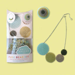 Olive Circle Fuse Bead Kit - Necklace and Brooch