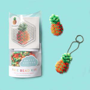 Pineapple Fuse Bead Kit - keyring and magnet
