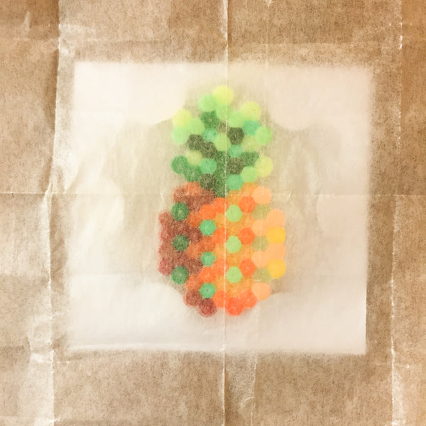 Pineapple Fuse Bead Kit - necklace and pin