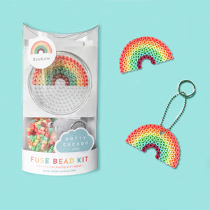 Rainbow Fuse Bead Kit - keyring and magnet