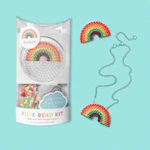 Rainbow Fuse Bead Kit - necklace and pin