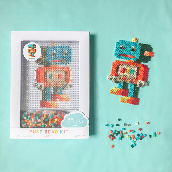 Robot Fuse Bead Kit - Wall Decor
