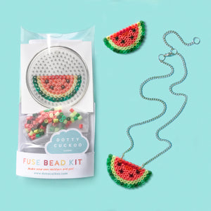 Watermelon Fuse Bead Kit - necklace and pin