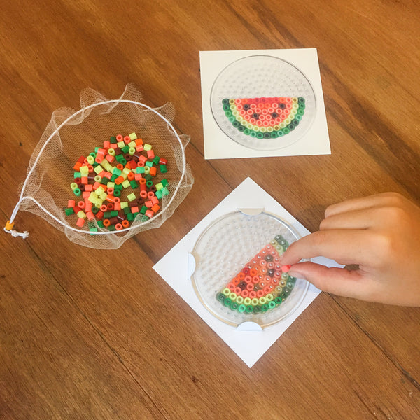 Watermelon Fuse Bead Kit - keyring and magnet