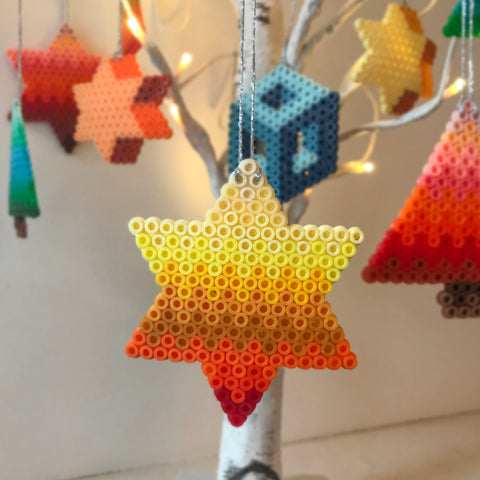 Yellow Star Hanging Decoration