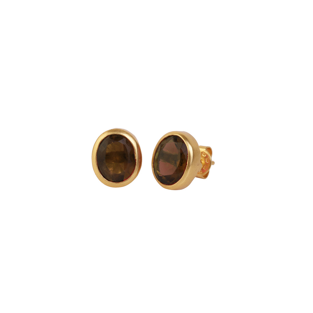 Earrings Uni - Smoky Quartz