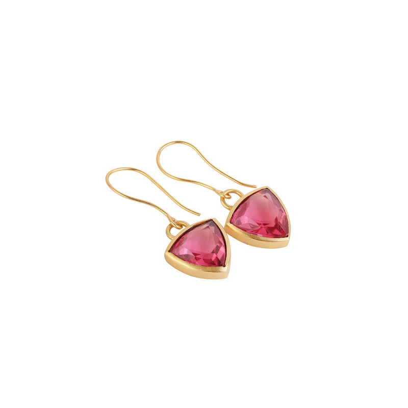 Earrings Maka - Ruby corundum