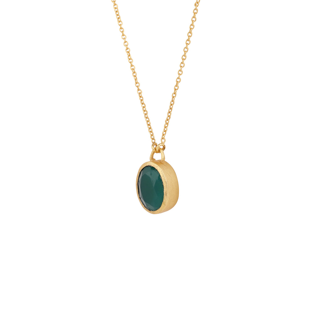 Itzel Necklace - Green Onyx