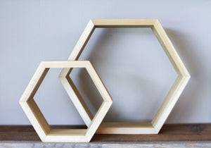 Hexagon Shelf- Large