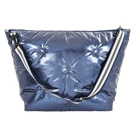 Blue Metallic Weekender Bag