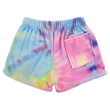 Load image into Gallery viewer, Pastel Tie Dye Plush Pajama Shorts