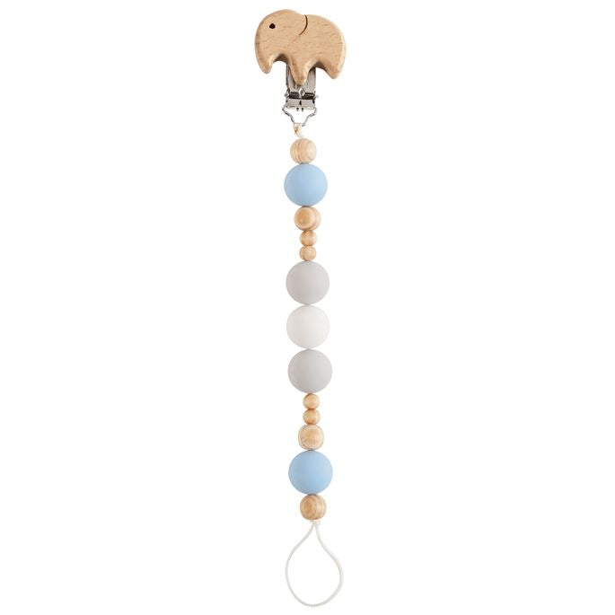 Elephant Wood & Silicone Pacifier Clip