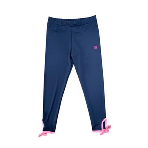 Avery Navy Legging w/ Pink Ties