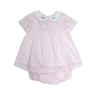 Infant Girl Cara Windowpane Dress