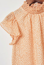 Load image into Gallery viewer, Caramel Floral Smock Blouse