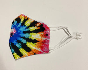 Adult Adjustable Tie Dye Cotton Mask
