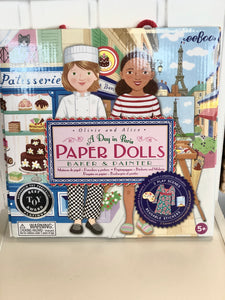 A Day in Paris Paper Dolls