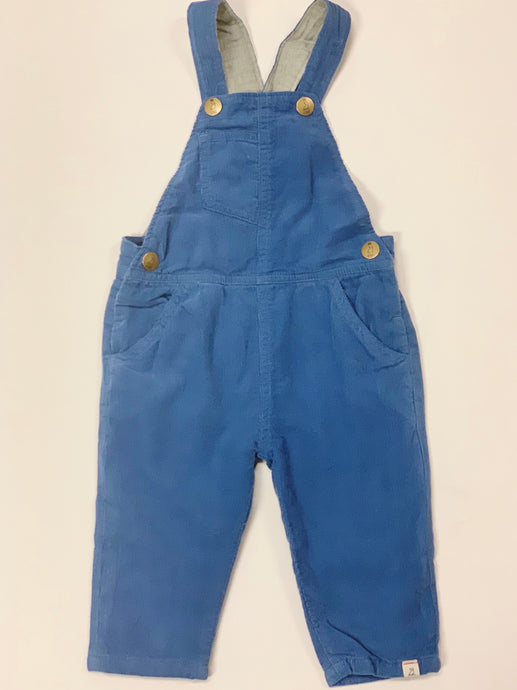 Infant Boy Blue Cord Overalls