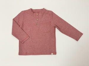 Toddler Red Stripe Long Sleeve Henley