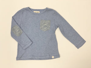 Toddler Blue Long Sleeve Tee